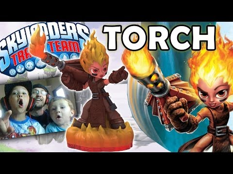 Skylanders Trap Team: Torch! New Fire Core Character (female Blacksmith) video