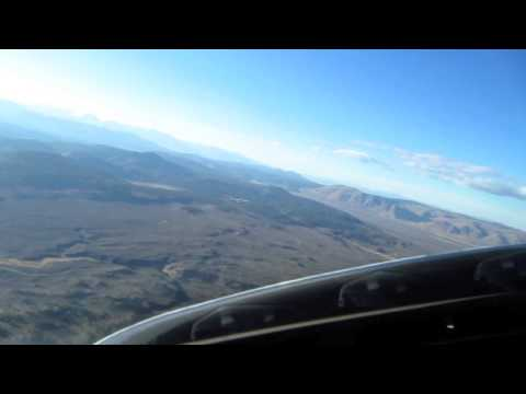 Approach to Mammoth Lakes airport, landing runway 09. Sped up 400x. October 11, 2013.