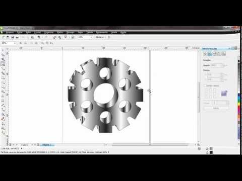 Video Aula de CorelDRAW X5 - Roda Dentada - Engrenagem