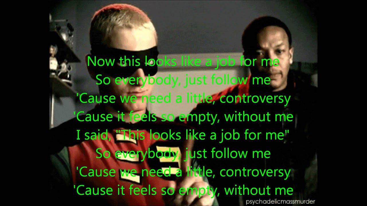 Without Me by Eminem Lyrics (Explicit) - YouTube