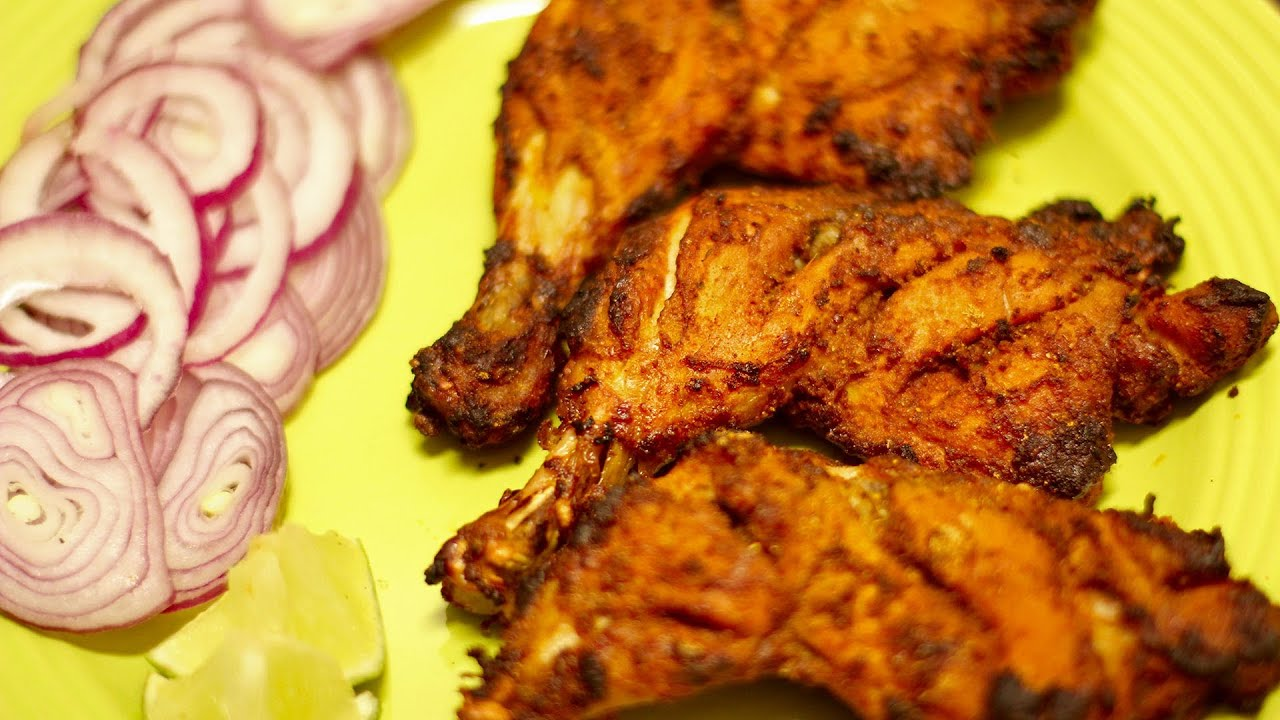 Grilled Tandoori chicken (Indian style) - YouTube