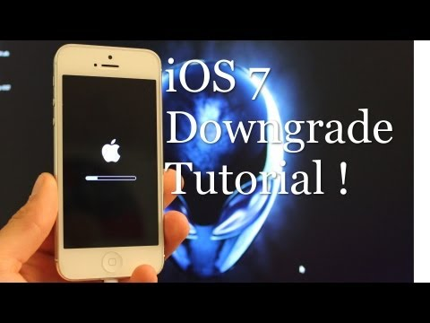 iOS 7 Downgrade to iOS 6 Tutorial !