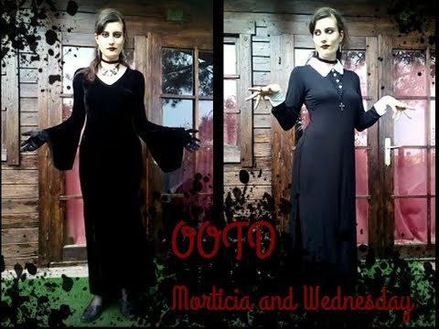 OOTD morticia + wednesday - l'AnJeLess Show | OOTDGOTHIC