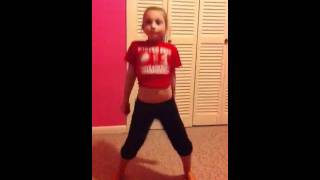 Little girl dancing to wobble baby
