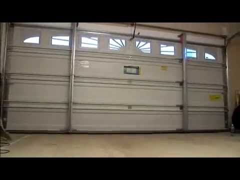 How To Reinforce Your Garage Door Before A Storm Youtube
