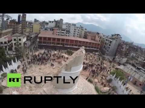 Drone RAW: Nepal, before and after the deadly earthquake