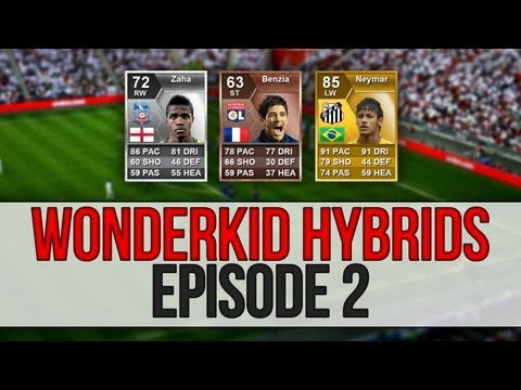 Fifa 13 Ultimate Team - Wonderkid Hybrids - Neymar, Zaha and Benzia - Episode 2