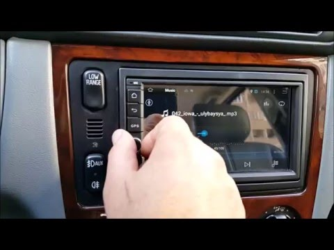 Joying android 7 inch GPS head unit installation in Mercedes Benz ML W163