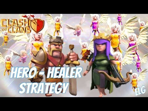 3 Star With Hero Healer Attack Strategy Gameplay! Barbarian King Archer Queen Healer Clash of Clans
