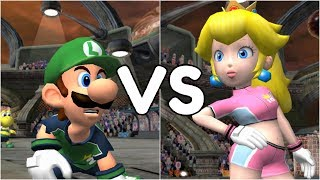 Super Mario Strikers - Luigi vs Peach - GameCube Gameplay (720p60fps)