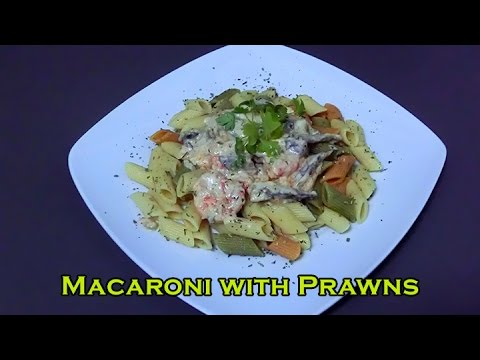 Recipe of Macaroni with prawns - Mapishi ya (In Swahili, subtitled in English)