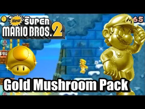 New Super Mario Bros. 2 Coin Rush Mode DLC - Gold Mushroom Pack