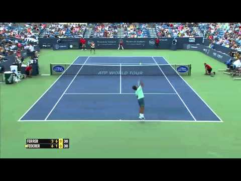 Roger Federer vs Davis Ferrer- Cincinatti 2014 Final Highlights
