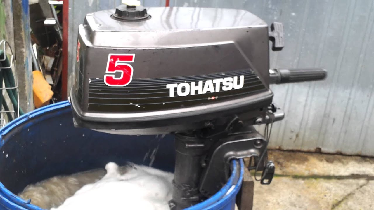Tohatsu 5 hp outboard motor 1997r 2 stroke dwusuw youtube Two stroke outboard motors