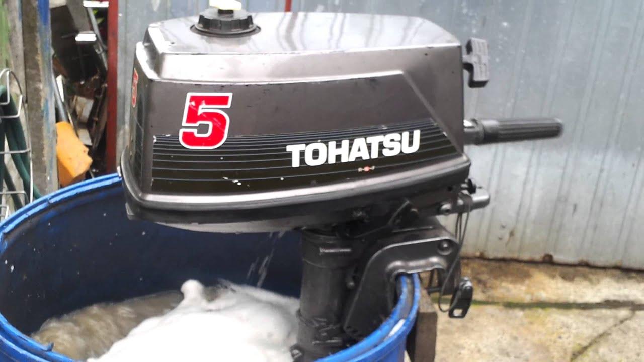 Tohatsu 5 Hp Outboard Motor 1997r 2 Stroke Dwusuw Youtube