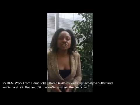 Samantha Sutherland TV &#8211; 22 Real Work From Home Jobs &#038; Home Business Ideas