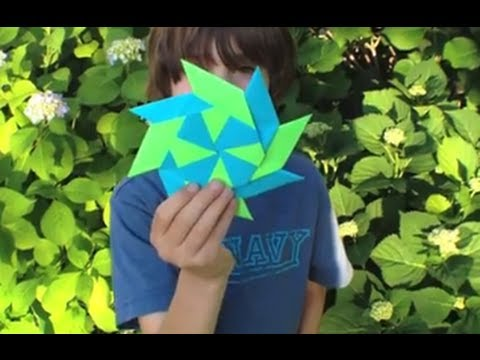 How To Make a Transforming Ninja Star - Origami