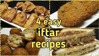 बाहोत ही आसानी से बनाये घर पर Ramazaan special 4 iftar recipes Quick and easy recipes