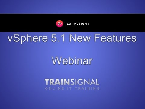 Learn about VMware vSphere 5.1 new features