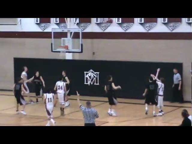 2-19-10 - Nick Garver drills one of his 4 three pointers (Fossil Ridge 44, Fort Morgan 32)