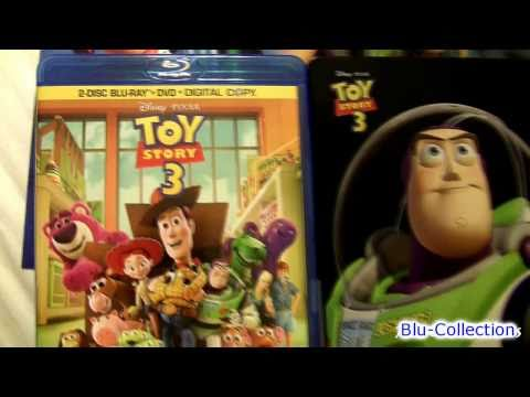 TOY STORY 3 blu ray Unboxing review from Disney Pixar
