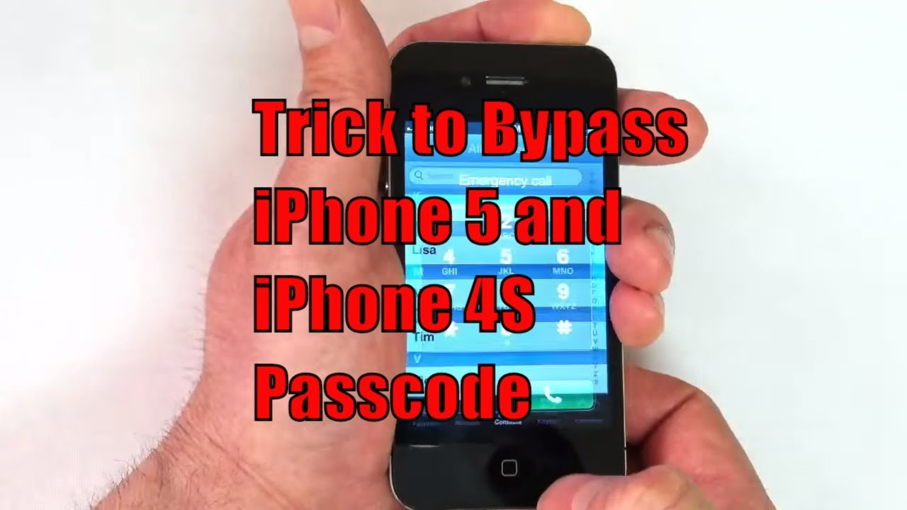 bypass iphone 5 and iphone 4s passcode youtube. Black Bedroom Furniture Sets. Home Design Ideas