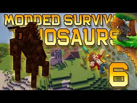 Minecraft: Modded Dinosaur Survival Let's Play w/Mitch! Ep. 6 - BOSS TOWER!