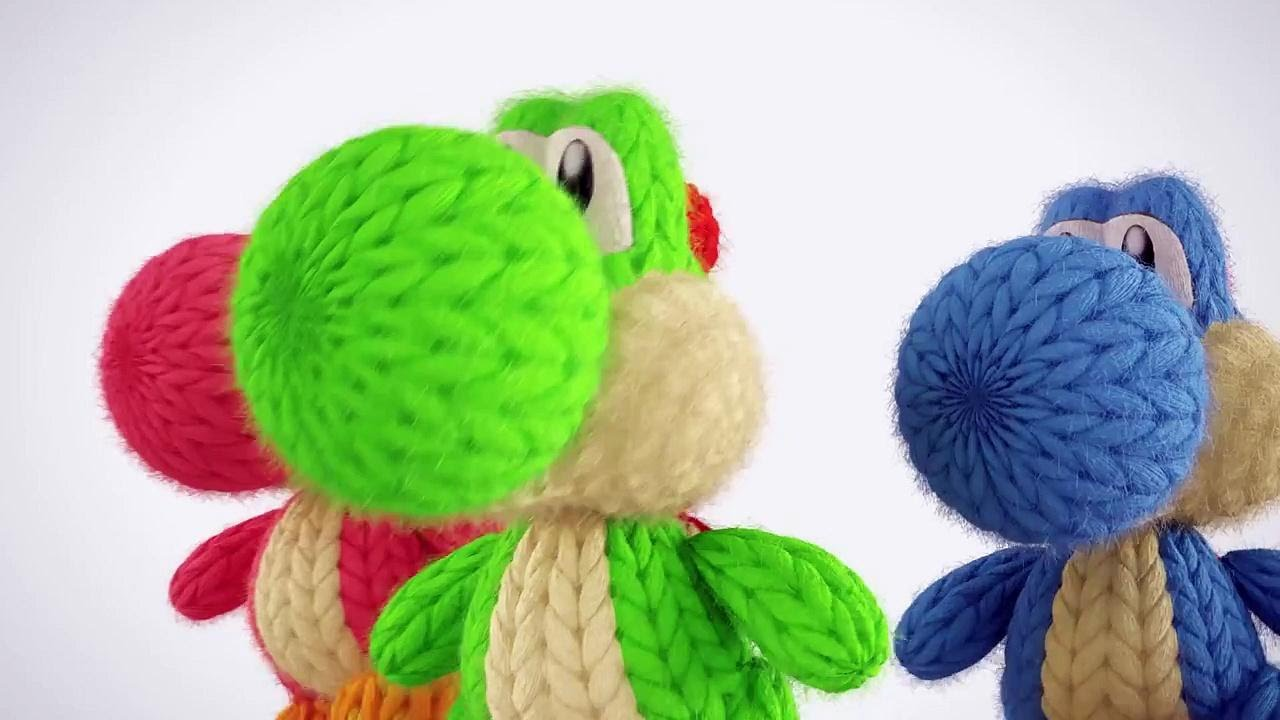 Yoshi's Woolly World - Unboxing Yoshis Made of Yarn