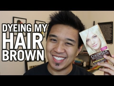 Dyeing My Hair Brown: Revlon Colorsilk Ultra Light Ash Blonde