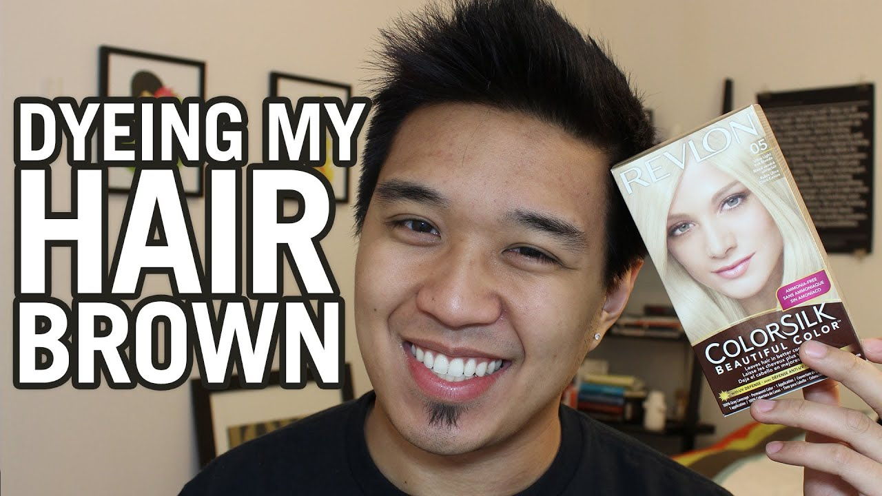 Using Blonde Dye on Brown Hair Dyeing my Hair Brown Revlon