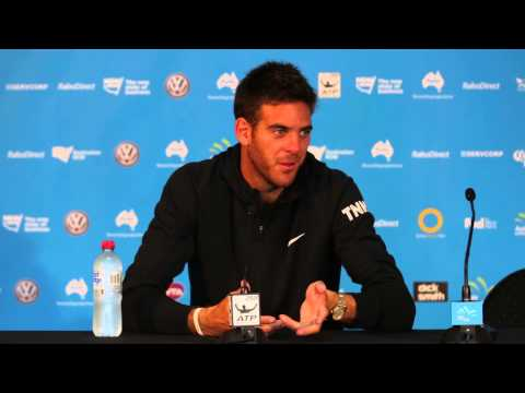 Juan Martin Del Potro press conference (QF) - Apia International Sydney