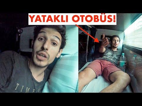 Keşke Türkiye'de olsa dediğim YATAKLI OTOBÜS 'e bindim! (OTEL OTOBÜS)