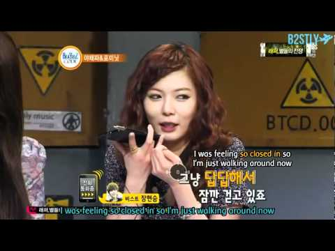 [B2STLYSUBS] 120607 Beatles Code - Hyunah's call to Hyunseung