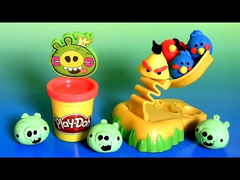 Play Doh Angry Birds Build 'n Smash Game From Rovio by DisneyCollector