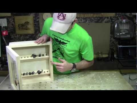 Woodworking - Router Bit Cabinet with a Secret