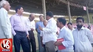Committee Members Inspects Arrangement Works Of World Telugu Conference 2017