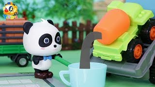 Baby Panda's House Building Contest | Fight against Bad Crocodile | Toy Story | ToyBus