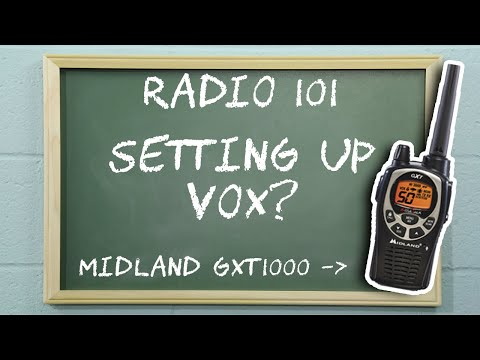 How To Set VOX on a Midland GXT1000