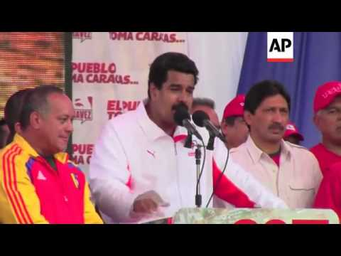 Supporters and opponents of Chavez hold marches in the capital