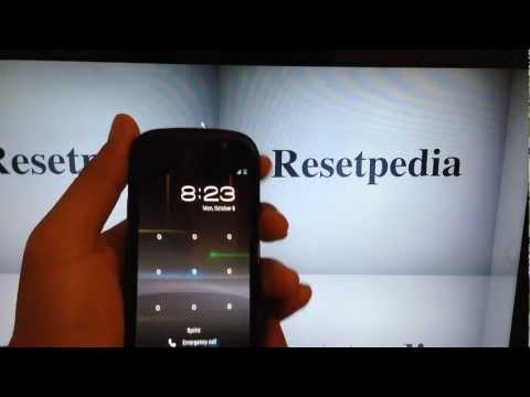 Google Nexus S Sprint: Hard Reset Password Removal Factory Restore Tutorial