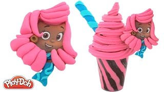 Play Doh How to Make a Bubble Guppies Ice Cream Sundae RainbowLearning