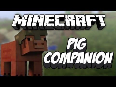 Minecraft 1.4.2 - Pig Companion - Mod Review - zähmbare Schweine [German]