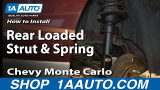How To Install Replace Rear Loaded Strut and Spring 2000-07 Chevy Monte Carlo