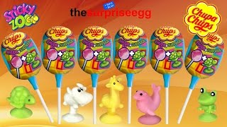NEW Chupa Chups Sticky Zoo surprise Eggs Toys Candy Lollipop review unboxing