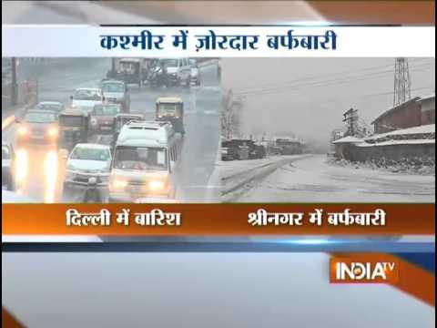 Rain Lashes Delhi/NCR; Fresh Snowfall in Srinagar - India TV