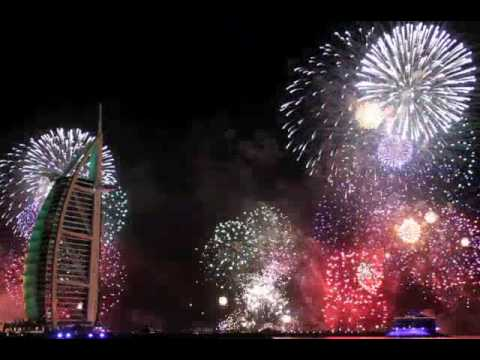 Dubai Burj Al Arab New Year's Eve 2010 Fireworks
