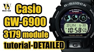 G-Shock GW 6900 module 3179 - review & tutorial how to setup and use ALL the functions