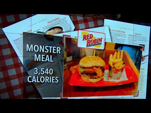 Extreme eating: Most unhealthy restaurant meals