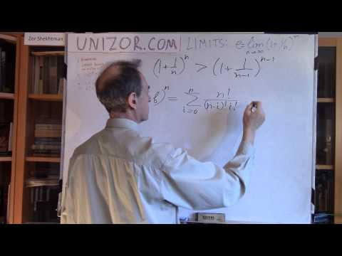 Unizor - Limits - Number e as a Limit