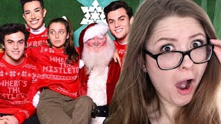 CHRISTMAS WISH COME TRUE (MEETING SANTA!) ft. Dolan Twins & James Charles - Sister Squad Reaction